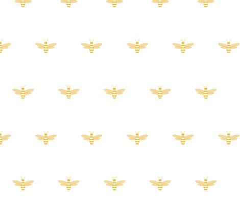 Bee fabric by della_vita on Spoonflower - custom fabric