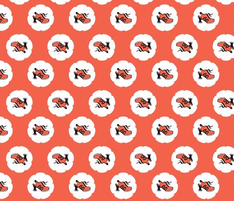 Fluevog Orion Shoes / Orange giftwrap - anne-m-bray - Spoonflower