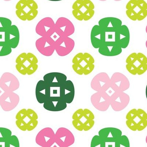 Pink and Green Bloom