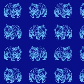 Wombat trot-Blue