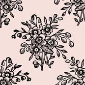 Block Bouquet Pink Black