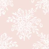 block bouquet pink white