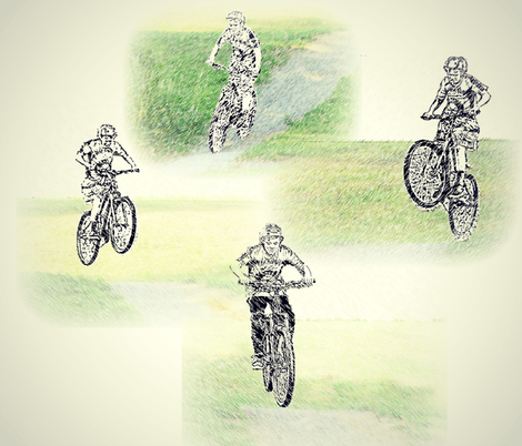 Airborne Cycling Style fabric by b2b on Spoonflower - custom fabric