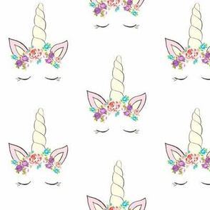 Unicorns with Flower Crowns