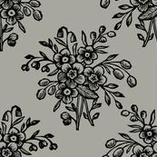 block bouquet taupe black