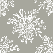 block bouquet taupe white