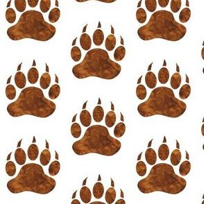 "2"" Bear Paws in Pecan Brown - Watercolor Woodland"