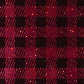 Red galaxy plaid