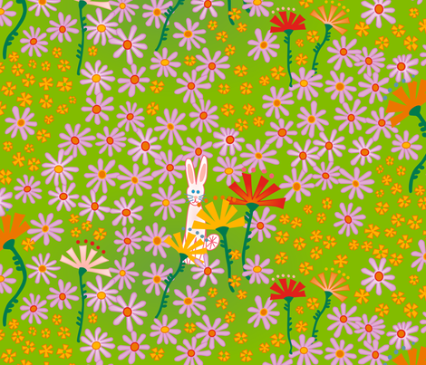 Lonely Bunny fabric by lalalamonique on Spoonflower - custom fabric