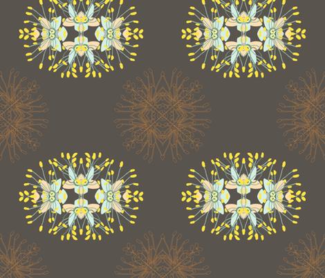 2941 Phebalium-Abstract-Brown fabric by jennieholtsbaumdesign on Spoonflower - custom fabric