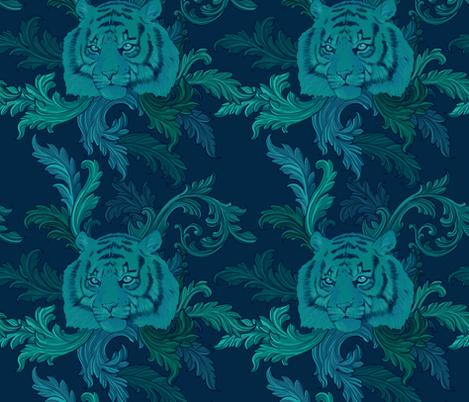 Endangered Sumatran Tiger fabric by illnessink on Spoonflower - custom fabric