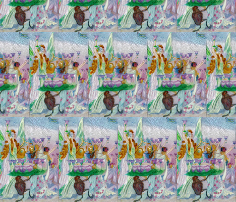 Cheers To Happy Land fabric by linda-hughes on Spoonflower - custom fabric