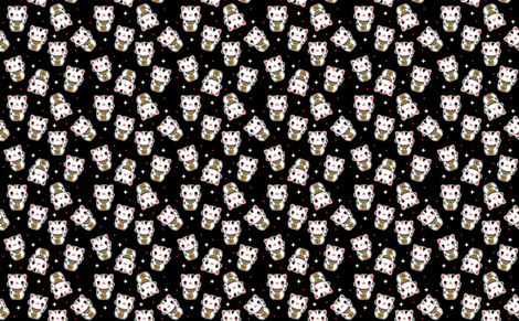 Lucky Cat fabric by emandsprout on Spoonflower - custom fabric
