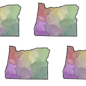 Watercolor Oregon // Large