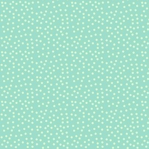 Twinkling Meadow Mist Dots on Aqua Pearl - Small Scale