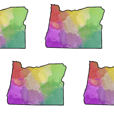Watercolor Oregon // Vibrant // Large fabric by thinlinetextiles on Spoonflower - custom fabric