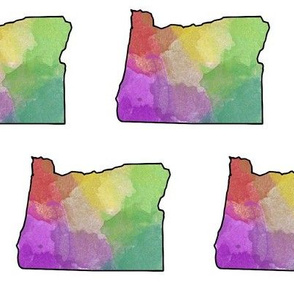 Watercolor Oregon // Vibrant // Large