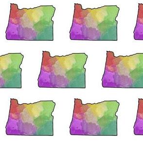 Watercolor Oregon // Vibrant // Small