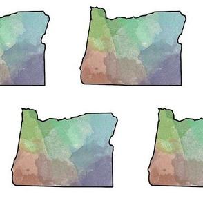 Watercolor Oregon II // Large