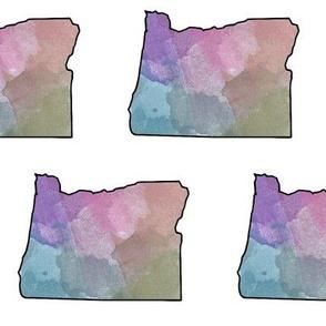 Watercolor Oregon III // Large