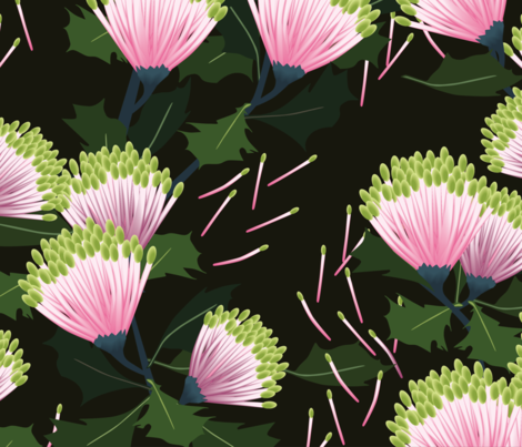 Banksia Cuneata fabric by kukileaf on Spoonflower - custom fabric