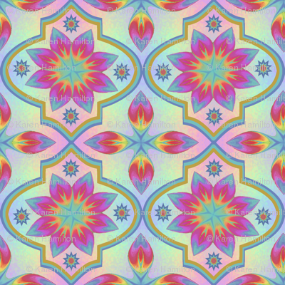 Large Marrakesh Rainbow Tile