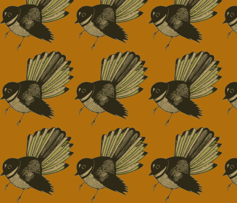 fan-ch-ch-ch fabric by tangerine_tea on Spoonflower - custom fabric