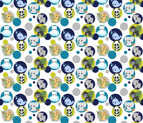 Endangered Species fabric by nagorerodriguezdesign on Spoonflower - custom fabric