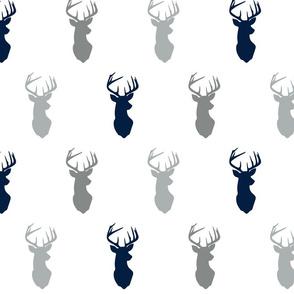 multi buck heads // grey and navy