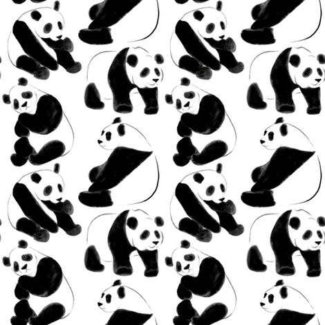 Panda bears (small scale) fabric by svetlana_prikhnenko on Spoonflower - custom fabric