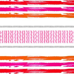 moroccan pink orange cloth  stripes
