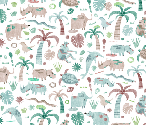 Endangered species fabric by wideeyedtree on Spoonflower - custom fabric