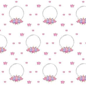 shabby rose twig wreath LG7 -lavender bunch