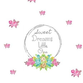 Sweet Dreams shabby rose twig wreath LG84 - mint pink bunch