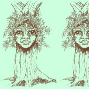 I tree - Turrong/dryad-Sepia on Mint