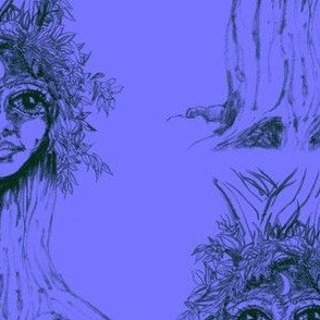 I tree - Turrong/dryad-Green on lilac