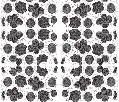Black Roses fabric by fabric_is_my_name on Spoonflower - custom fabric