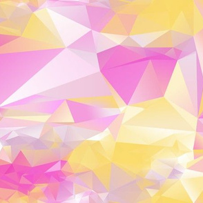 pink and yellow crystals