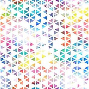 Watercolour Rainbow Triangles