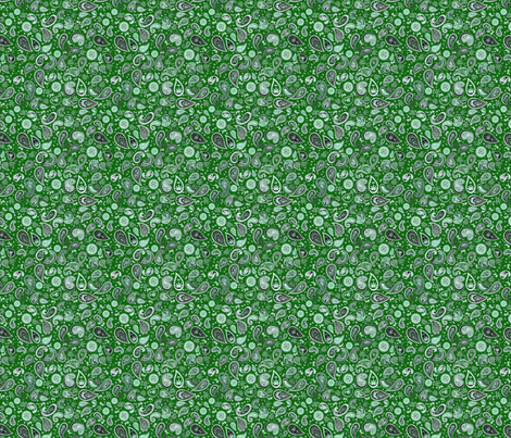 420 Paisley Dollclothes Green  fabric by camomoto on Spoonflower - custom fabric