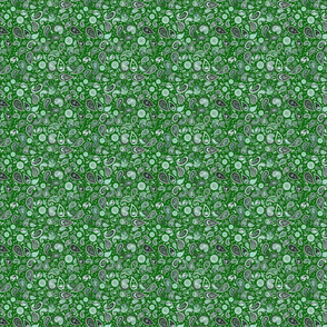 420 Paisley Dollclothes Green