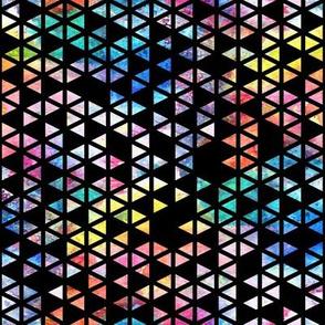 Watercolour Triangles -black