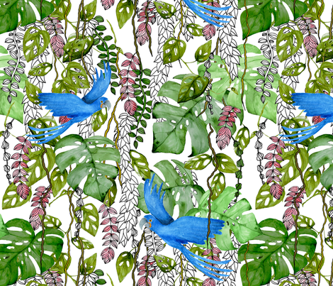 Rainforest fabric by annaostapowiczkulczycka on Spoonflower - custom fabric