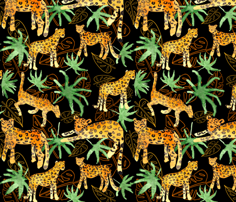 Jungle Leopards fabric by emjwalker on Spoonflower - custom fabric