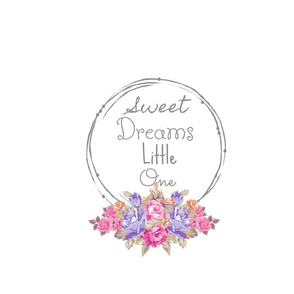 Sweet Dreams shabby rose twig wreath  FQ-lavender