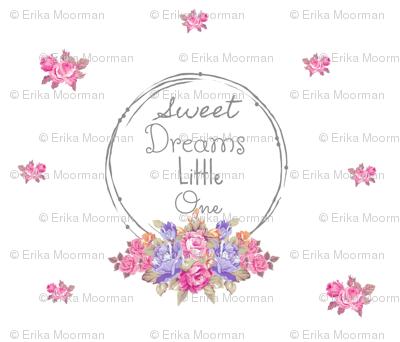 sweet dreams shabby rose twig wreath LG7 -lavender bunch