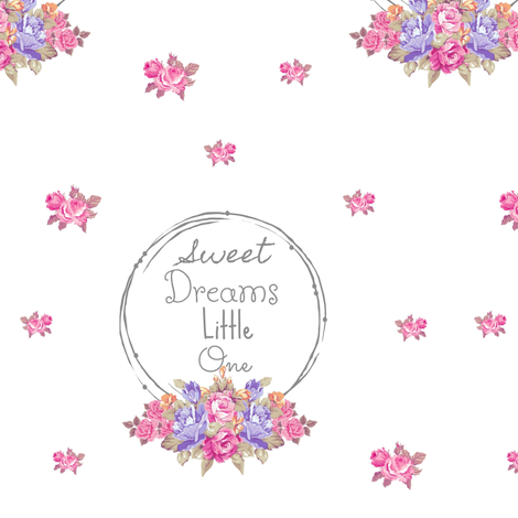 sweet dreams shabby rose twig wreath LG7 -lavender bunch fabric by drapestudio on Spoonflower - custom fabric