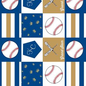 Kansas City inspired baseball quilt