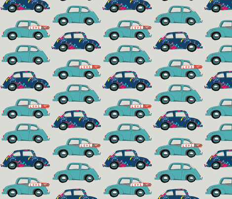 LOVE BUG fabric by stafford on Spoonflower - custom fabric