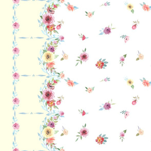 French Country - Flowers and Yellow Border
